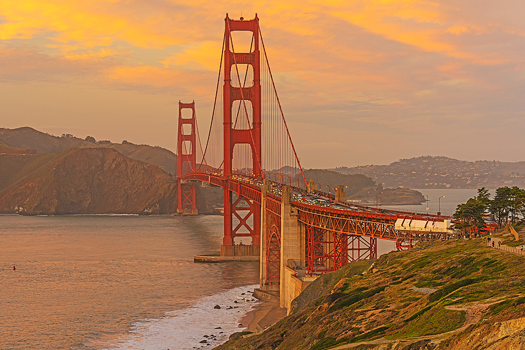 Sunset San Francisco Golden Gate Bridge